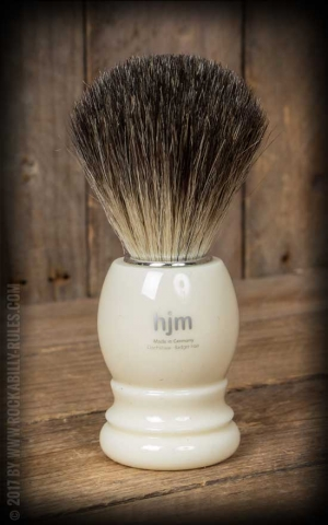 Shaving brush pure badger, handle material plastic ivory