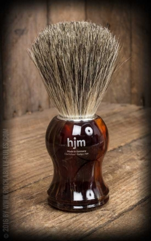Shaving brush, pure badger hair, havana