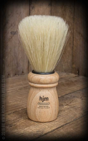 Shaving brush wood, pure bristle, beech wood