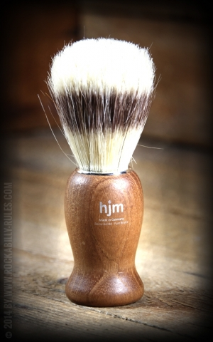 Shaving brush wood, pure bristle coloured, acacia wood