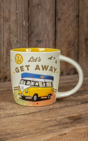 Vintage Mug - VW Bulli - Lets Get Away