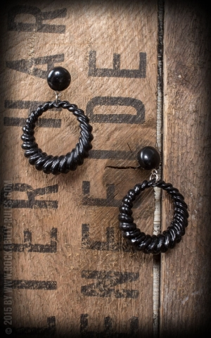 Retro Vintage Earring, black