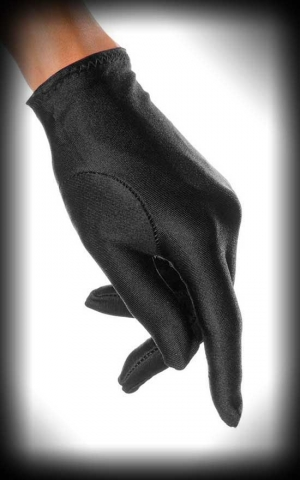 Pin-up Satin Gloves, black