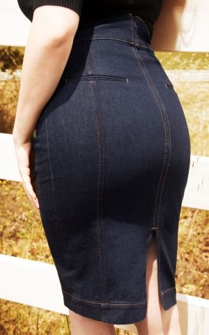 Rock-a-Booty 50s Loulou Denim Pencil Skirt