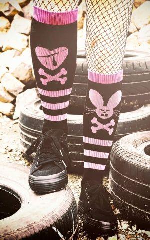 Rockasox- Hi Chaussettes Skate Heartbreaker