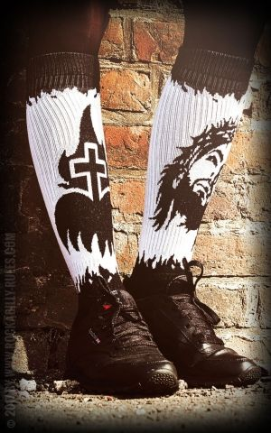 Rockasox - Hi Skatersocken Sacrifice & Salvation