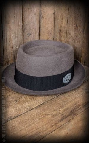 Rough & Loyal - Chapeau Sir Charlie Huttastock, gris