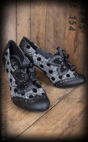 Ruby Shoo - Pin-up Pumps Daisy Black Spots