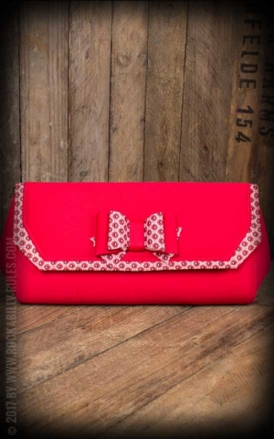 Ruby Shoo - Clutch Brighton, rouge