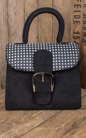 Ruby Shoo - Pin-Up Polkadot Handtasche Riva
