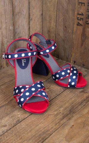 Ruby Shoo - Polkadot platform shoe Evie
