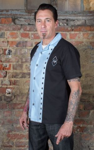 Rumble59 - Lounge Shirt - Rocking Diamonds - hellblau