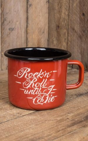 Rumble59 Enamel Mug - RnR Until I Die