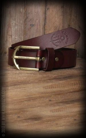 Rumble59 Leather Belt with anchor buckle, russet