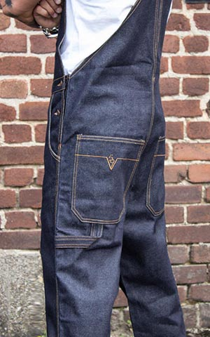 Rumble59 Jeans - Raw Selvage Denim Dungarees | Latzhose