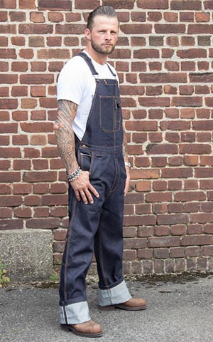 Rumble59 - Raw Selvage Denim Dungarees