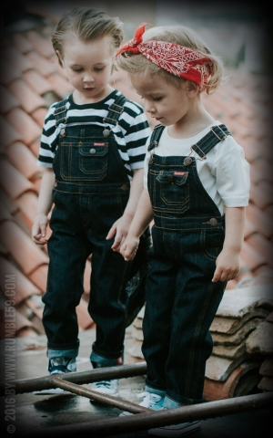 Rumble59 - Sling Shot Rebels - Kids Dungarees