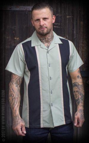 Rumble59 - Classic Shirt - Two Stripes Dusty Mint