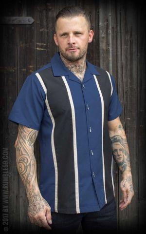 Rumble59 - Classic Shirt - Two Stripes Moonlight Blue