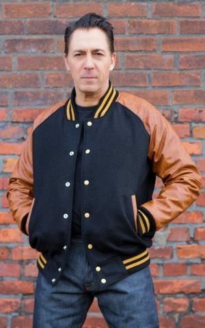 Rumble59 - Blouson de base-ball - noir/marron