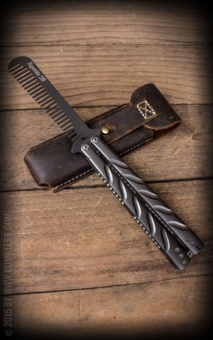 Rumble59 - Butterfly-Comb with Leather Case