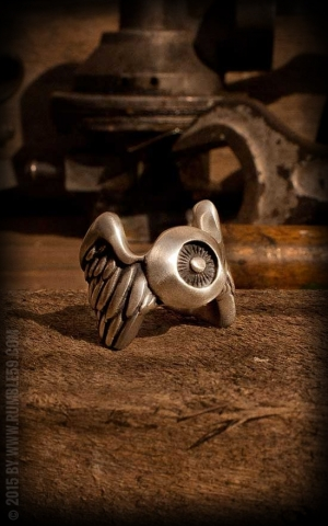 Rumble59 - Stainless Steel Ring - Flying Eyeball