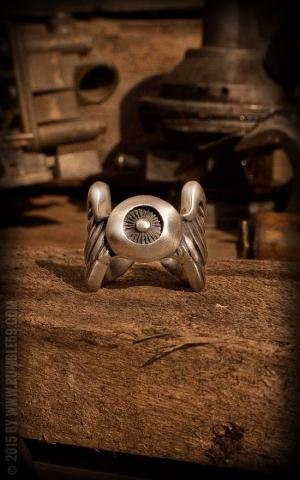 Rumble59 - Stainless Steel Ring - Flying Eyeball