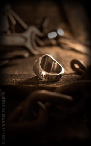 Rumble59 - Stainless Steel Ring - Denim without a cause