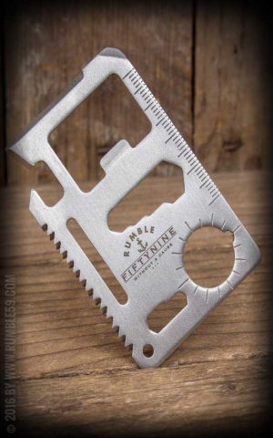 Rumble59 - Edelstahl Wallet Multitool