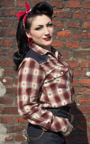 Rumble59 Ladies - Flannel Shirt - Chica loca