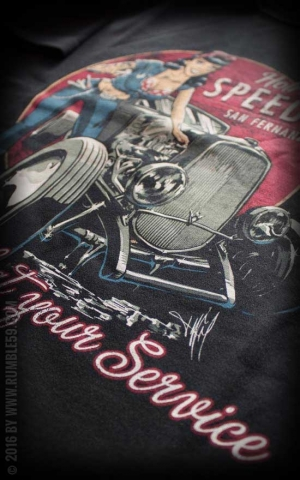Rumble59 - Hotrod Bettys Speed Shop - T-Shirt