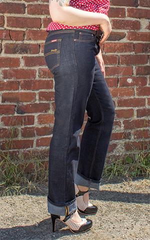 Rumble59 Ladies Denim - Garage Gal - Straight Cut