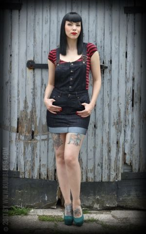 Rumble59 Ladies Denim - Bib Dress