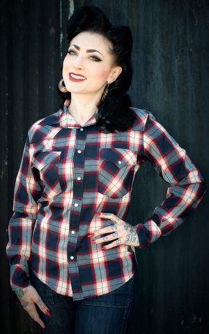 Rumble59 Ladies - Plaid Shirt - Gorgeous Girl Scout