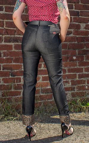 Rumble59 Ladies Denim - Black Marilyns Curves - Slim Fit