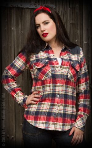 Rumble59 Ladies - Flannel Shirt - Sassy Country Gal