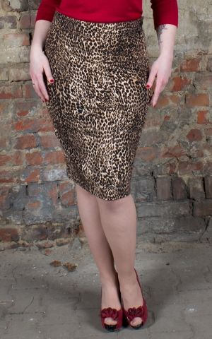 Rumble59 Ladies - Leopard Pencil Skirt - The wild one
