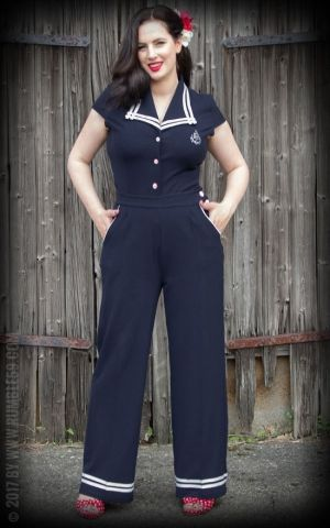 Rumble59 Ladies - Sailor Marlenehose