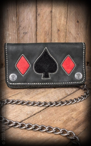 Rumble59 - Leather Wallet  Spade n Diamonds
