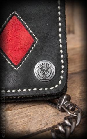 Rumble59 - Leather Wallet  Spade n Diamonds