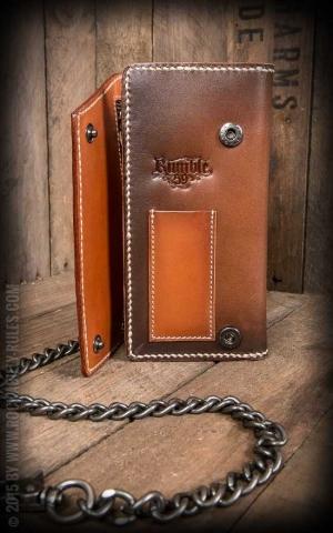 Rumble59 - Leather Wallet Comb - sunburst handmade