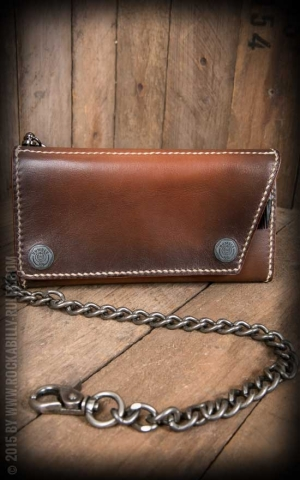 Rumble59 - Leather Wallet Comb - sunburst handmade