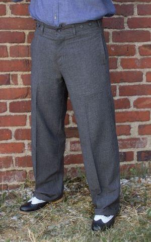 Rumble59 - Vintage Loose Fit Pants New Jersey - grau/schwarz