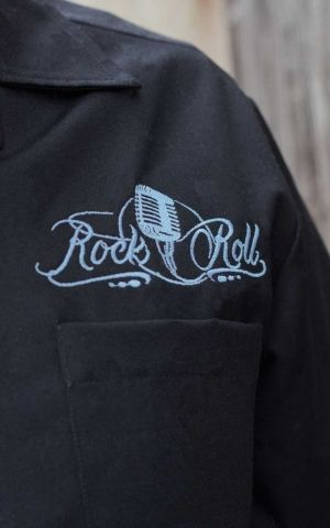 Rumble59 - Lounge Shirt - Sound of RocknRoll - light blue