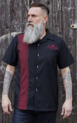 Rumble59 - Lounge Shirt - Sound of RocknRoll - bordeaux