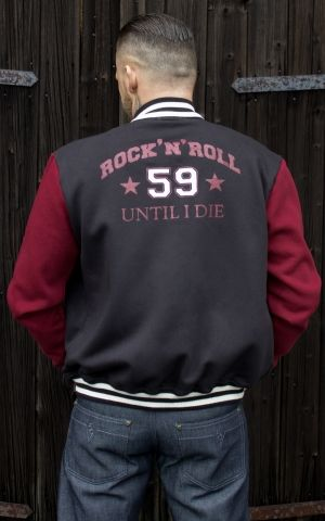 Rumble59 - Male Sweat College Jacke - RnR until I die