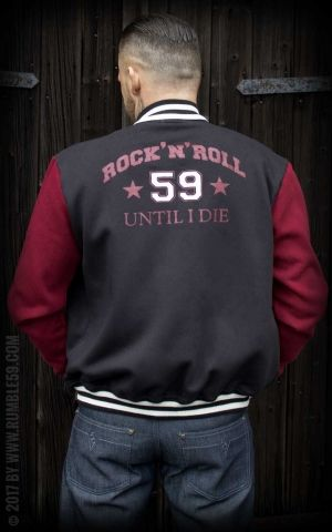 Rumble59 - Male Sweat College Jacket - RnR until I die