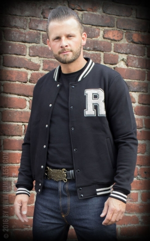 Rumble59 - Male Sweat College Jacke - schwarz