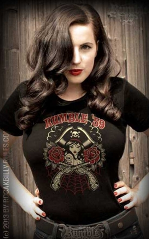 Rumble59 - Rock'n'Roll Pirate - Ladies T-Shirt
