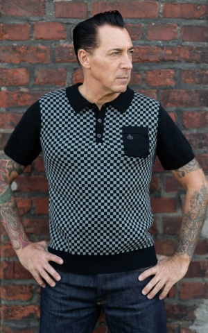 Rumble59 - Knitted Polo Shirt - Indianapolis - grey